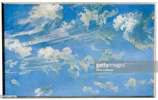 Cloud study, c1822 . In 1822, Constable produced about 50 studies of skies and clouds. From the Victoria and Albert Museum, London. A print from...