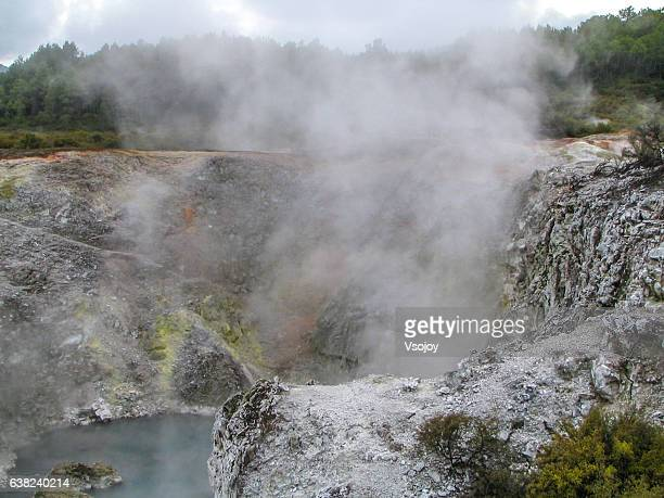 nature hot spot, new zealand - vsojoy stock pictures, royalty-free photos & images