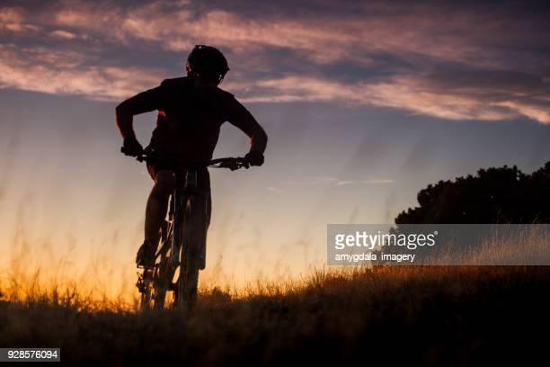 nature inspiration man mountain biking