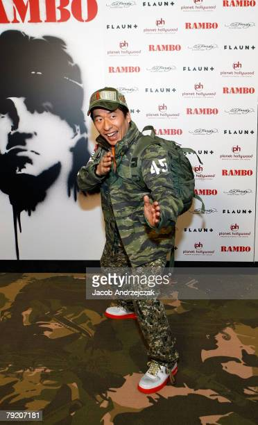 Nature Jimon arrives at the world premiere of the movie Rambo at the Planet Hollywood Resort Casino January 24 2008 in Las Vegas Nevada The film...