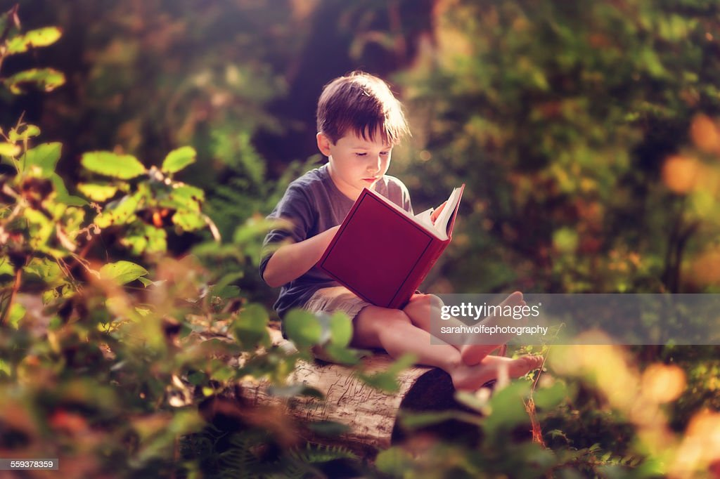 Nature makes the best classroom : Stock Photo