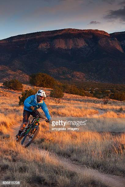 nature man mountain biking fitness - s shape stock photos and pictures