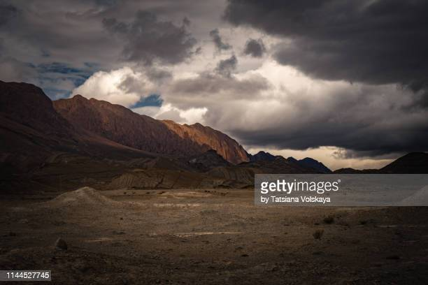 nature panorama with clouds in the mountains, morocco, africa - north africa stock pictures, royalty-free photos & images