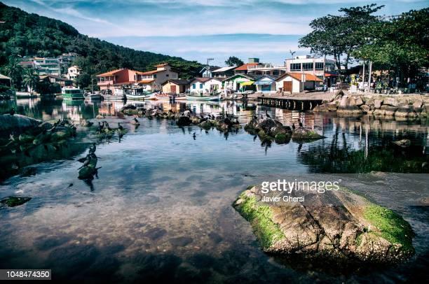 Nature: panoramic view of Barra da Lagoa, Florianópolis - Santa Catarina, Brazil