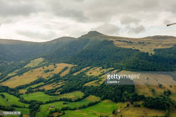 nature - paysage du cantal - cantal stock pictures, royalty-free photos & images
