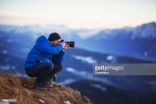 Nature photographer in the Mountain