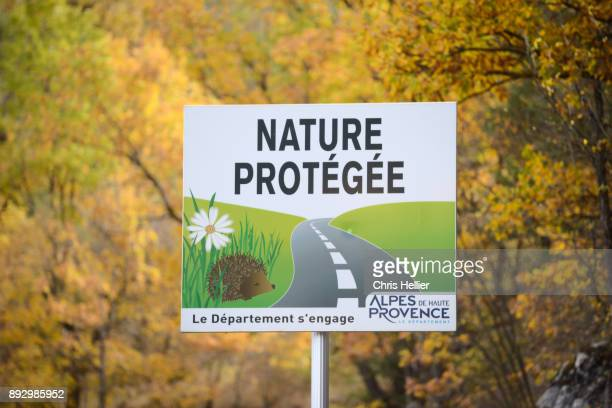 Nature Protection Road Sign