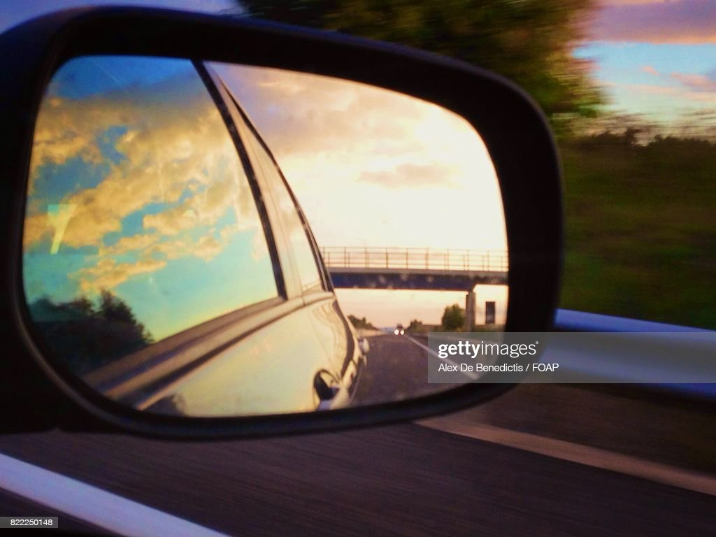 Nature reflected on mirror : Stock Photo