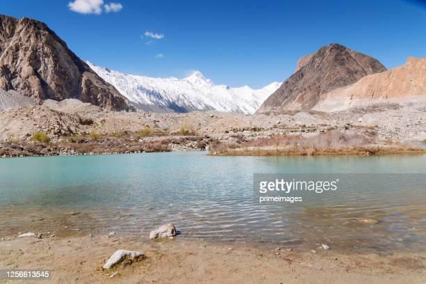 nature view landscape autumn of the pakistan in karakorum mountains , k2 and nanga parbat , pasu valleys and glaciers. - glacier stock pictures, royalty-free photos & images