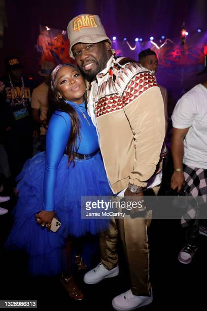 Naturi Naughton and 50 Cent attend 'Power Book III: Raising Kanan' global premiere event and screening at Hammerstein Ballroom on July 15, 2021 in...