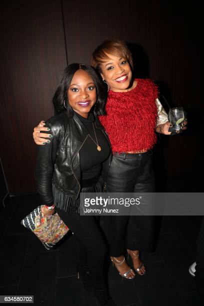 Naturi Naughton and Michelle Huff attend the Annual PreGrammy Reception hosted by Ted Reid at STK on February 9 2017 in Los Angeles California