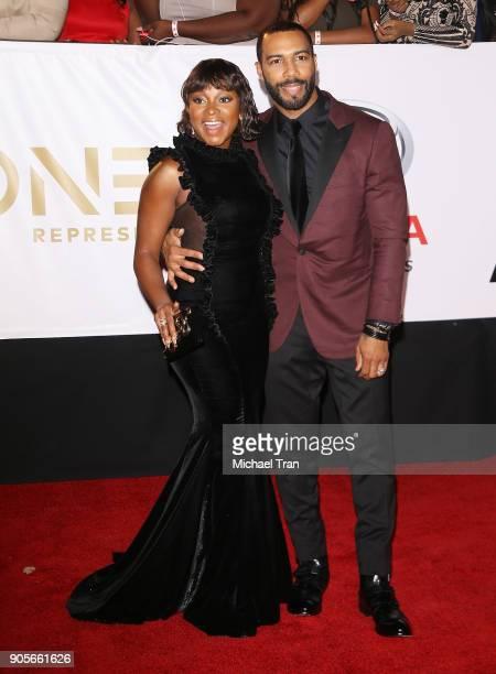 Naturi Naughton and Omari Hardwick arrive to the 49th NAACP Image Awards held at Pasadena Civic Auditorium on January 15 2018 in Pasadena California