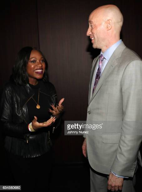 Naturi Naughton and Ted Reid attend the Annual PreGrammy Reception hosted by Ted Reid at STK on February 9 2017 in Los Angeles California