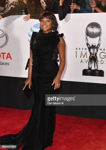 Naturi Naughton at the 49th NAACP Image Awards on January 15 2018 in Pasadena California