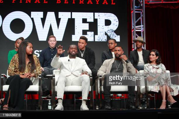 Naturi Naughton Joseph Sikora Rotimi Michael Rainey Jr Larenz Tate Courtney A Kemp Curtis 50 Cent Jackson Omari Hardwick and Lela Loren of 'Power'...
