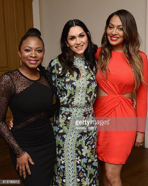Naturi Naughton Lela Loren and La La Anthony attends the The Beauty Of Power Event at Crosby Hotel on March 4 2016 in New York City