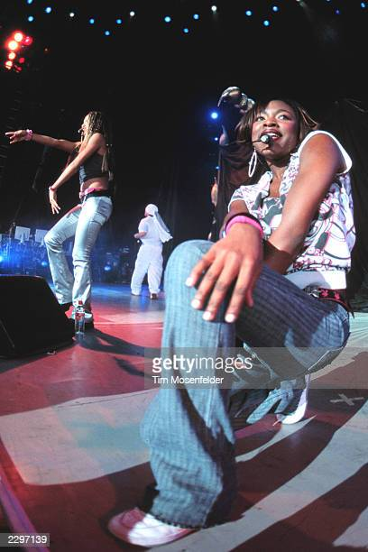 Naturi Naughton of 3LW performing at The Chronicle Pavillion in Concord Calif on Sept1st 2001 MTV TRL Tour 2001 Image By Tim Mosenfelder/ImageDirect