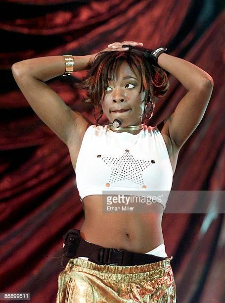 Naturi Naughton of 3LW performs during a soldout show at the Mandalay Bay Events Center during MTV's TRL tour August 31 2001 in Las Vegas Nevada The...
