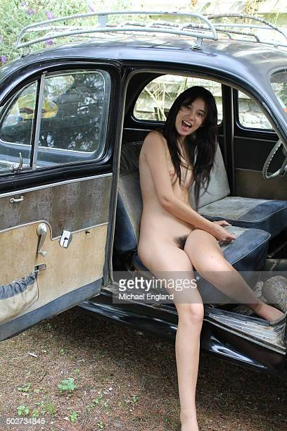 naturist girl nude living - naturism stock photos and pictures