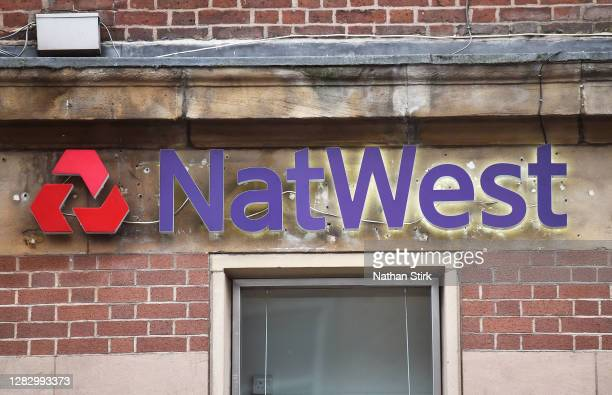 NatWest Bank sign seen on October 30, 2020 in Newcastle-under-Lyme, England. HSBC Chief Executive Noel Quinn said the bank will review pricing...