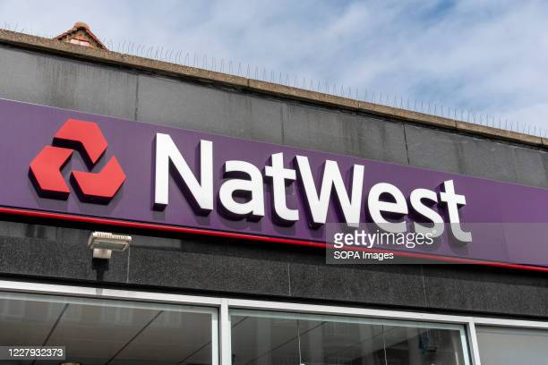 NatWest logo on one of their shops in London.