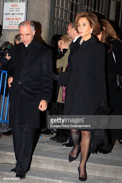 Naty Abascal and Ignacio Jimenez SanchezDalp attend memorial service for Duchess of Alba on December 15 2014 in Madrid Spain