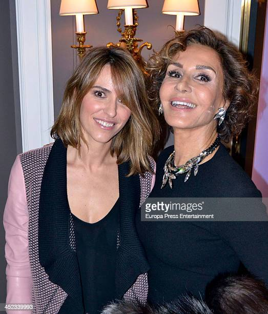 Naty Abascal and Laura Vecino attend the presentation of the style book '100% Naty' at Villamagna Hotel on November 26 2013 in Madrid Spain