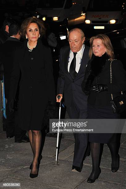 Naty Abascal and Tomas Terry attend memorial service for Duchess of Alba on December 15 2014 in Madrid Spain