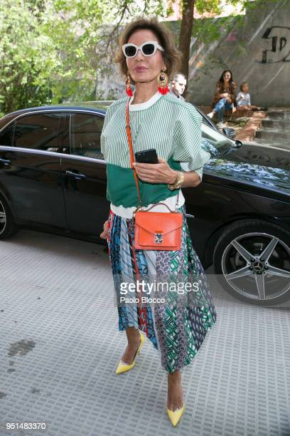Naty Abascal arrives at the Petite Fashion Week fashion show on April 26 2018 in Madrid Spain