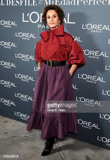 Naty Abascal attends L'Oreal Fashion Show during Mercedes Benz Fashion Week at Cibeles Palace on January 31 2020 in Madrid Spain