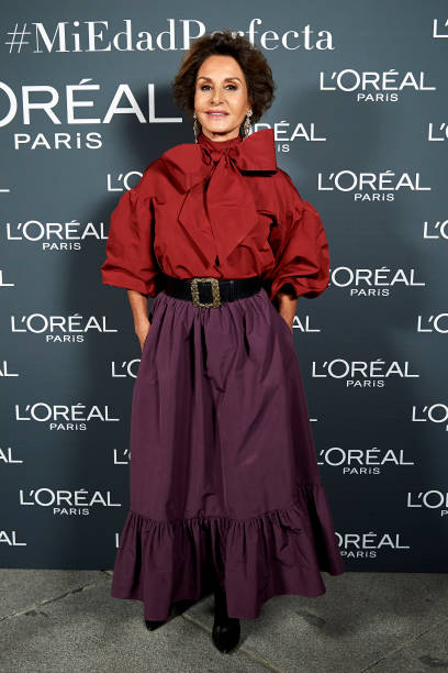 Naty Abascal attends L'Oreal fashion show during the Mercedes Benz Fashion Week Autumn/Winter 202021 at Palacio de Cibeles on January 31 2020 in...