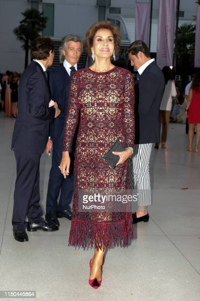 Naty Abascal during inauguration Balenciaga and Spanish Painting exhibition in Madrid in ThyssenBornemisza National Museum 17 June 2019 Spain