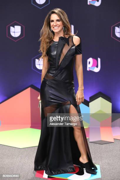 Naty Botero attends the Univision's Premios Juventud 2017 Celebrates The Hottest Musical Artists And Young Latinos ChangeMakers at Watsco Center on...