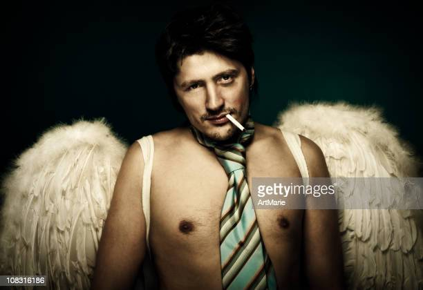naughty angel - male angel stock photos and pictures