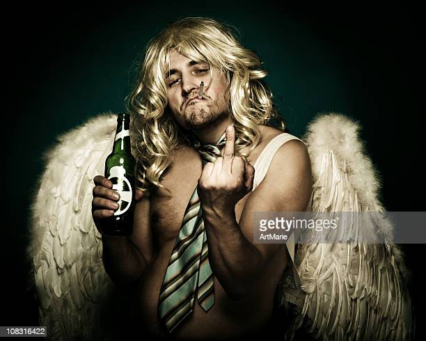 naughty angel - funny cupid stock pictures, royalty-free photos & images
