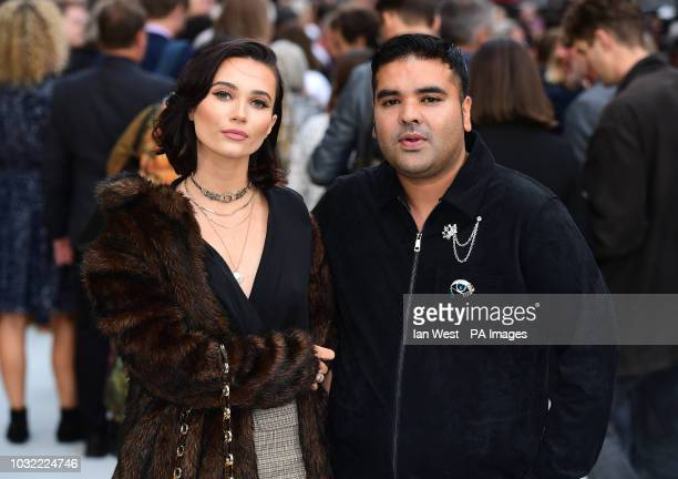 Naughty Boy and guest arriving for the King of Thieves World Premiere held at Vue West End Leicester Square London