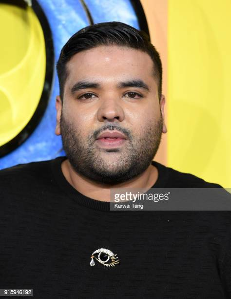 Naughty Boy attends the European Premiere of 'Black Panther' at Eventim Apollo on February 8 2018 in London England