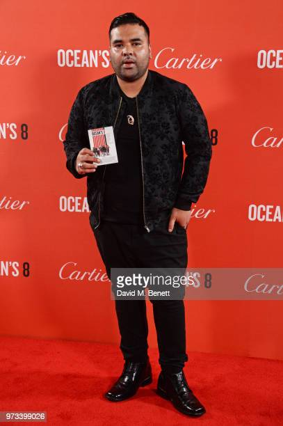 Naughty Boy attends the 'Ocean's 8' UK Premiere held at Cineworld Leicester Square on June 13 2018 in London England