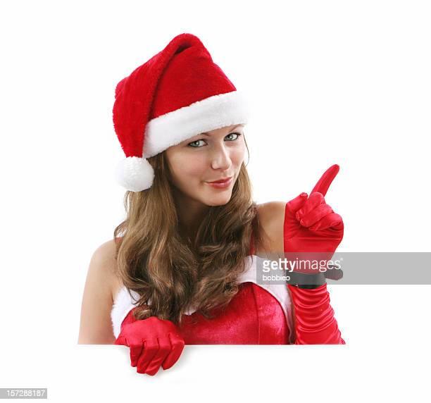 frech oder brav - weihnachtsfrau stock-fotos und bilder