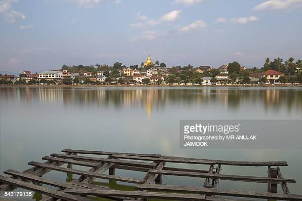 Naung Tung Lake at Keng Tung, Myanmar