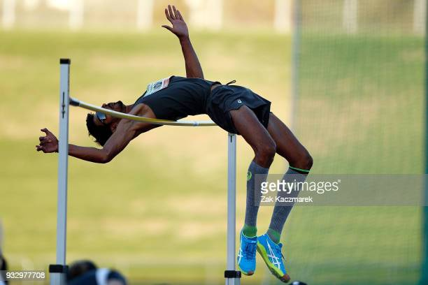 Nauraj Singh Randhawa of Malaysia competes in the Men's High Jump during the 2018 Sydney Athletics Grand Prix at Sydney olympic Park Athletics Centre...