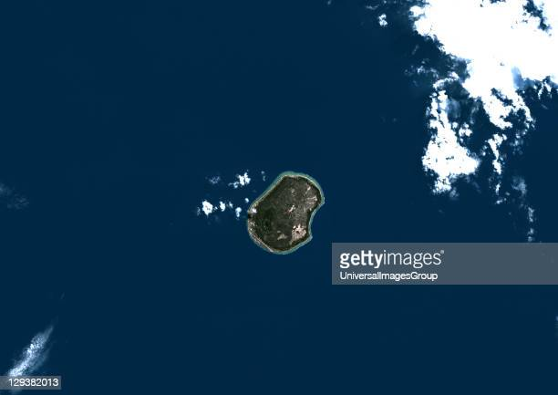 Nauru True colour satellite image of Nauru an island nation in Micronesia in the South Pacific This image was taken on 29 June 1999 by the LANDSAT 7...