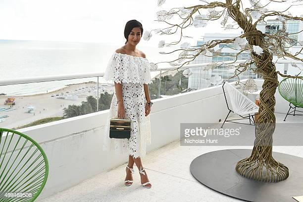 Nausheen Shah attends MaisondeModecom x Paul Kasmin Gallery Luncheon at Penthouse at the Faena Hotel Miami Beach on December 1 2015 in Miami Beach...