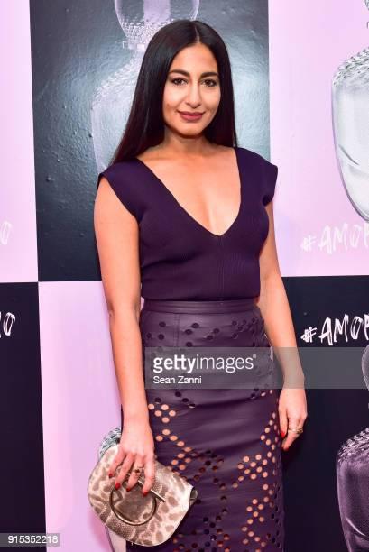 Nausheen Shah attends Salvatore Ferragamo Suki Waterhouse celebrate AMO Ferragamo on February 6 2018 in New York City