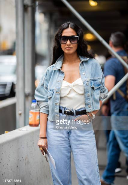 Nausheen Shah is seen outside Vera King during New York Fashion Week September 2019 on September 10, 2019 in New York City.