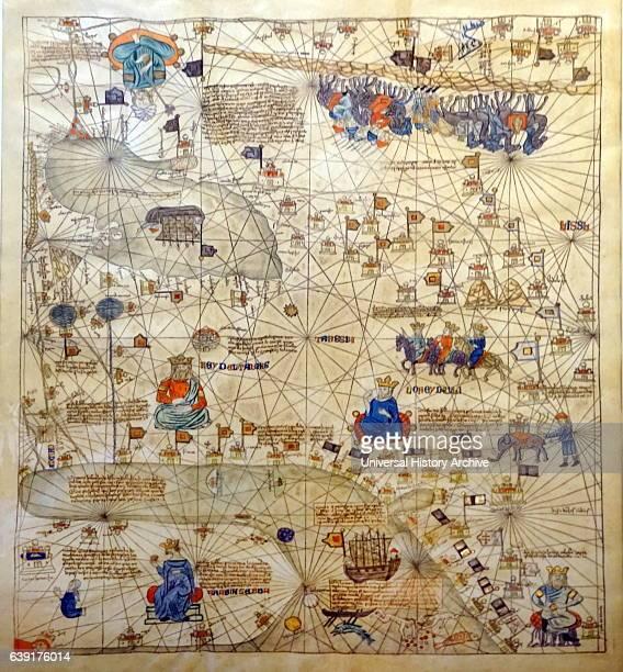 Nautical chart of the Mediterranean Sea by Gabriel de Vallseca 1439