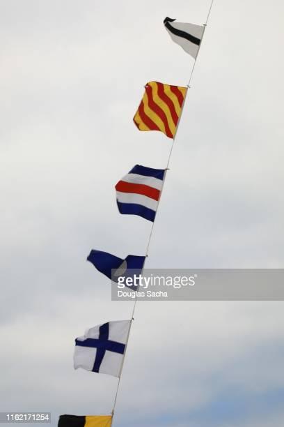 nautical signal flags - nautical vessel ストックフォトと画像