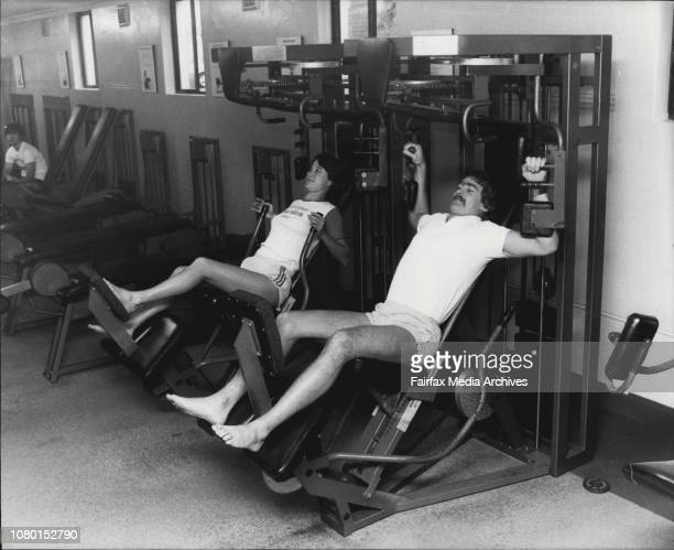 Nautilus Fitness Centre in Crows Nest which specialises in bodybuildingInstructors Peter Ring and Nikki Simler May 24 1983