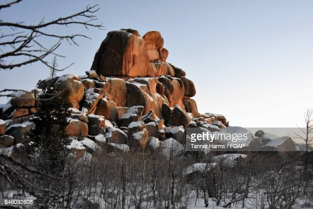 nautilus formation in vedauwoo - national forest stock pictures, royalty-free photos & images