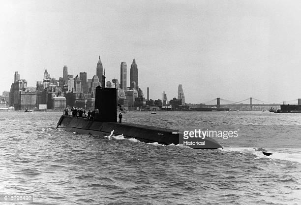 USS Nautilus in New York Harbor